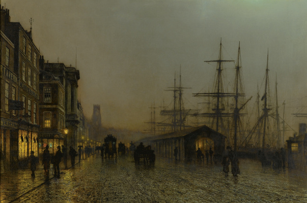 John Atkinson Grimshaw. Glasgow Saturday Night