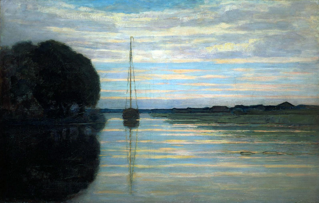 Piet Mondrian. River view from the boat