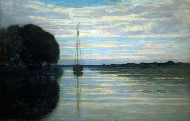 Пит Мондриан. Вид на реку с лодки
