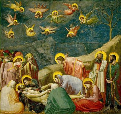 Джотто ди Бондоне. Оплакивание Христа