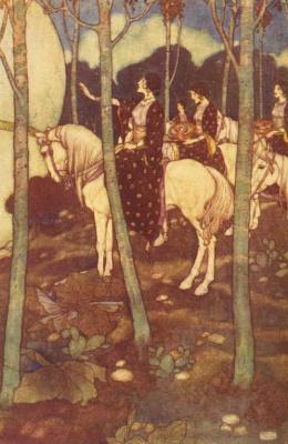 Эдмунд Дюлак. Иллюстрация к сказкам 1001 ночь. 002
