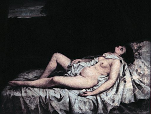 Gustave Courbet. Reclining Nude