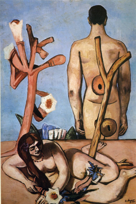 Max Beckmann. Man and woman lying