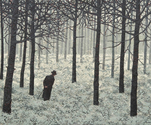 Марк Эдвардс. Man in the winter forest