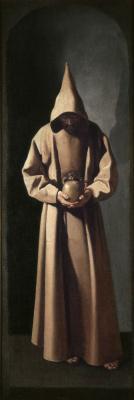 Francisco de Zurbaran. St. Francis contemplating a skull