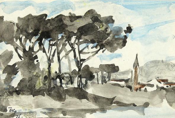 Порфирий Никитич Крылов. Итальянский пейзаж. 1974