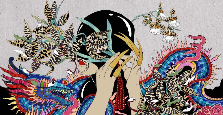 "Ekaterina Belyavskaya. Mask. ""Thirteen Orchids for the Empress"""