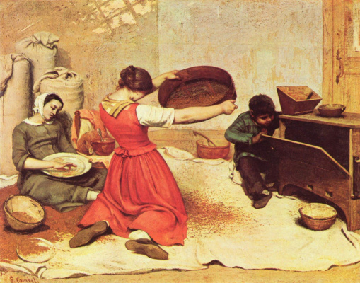 Gustave Courbet. Sieving grain