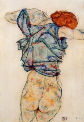 Egon Schiele. Undress woman