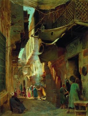 Konstantin Makovsky. Street in Cairo