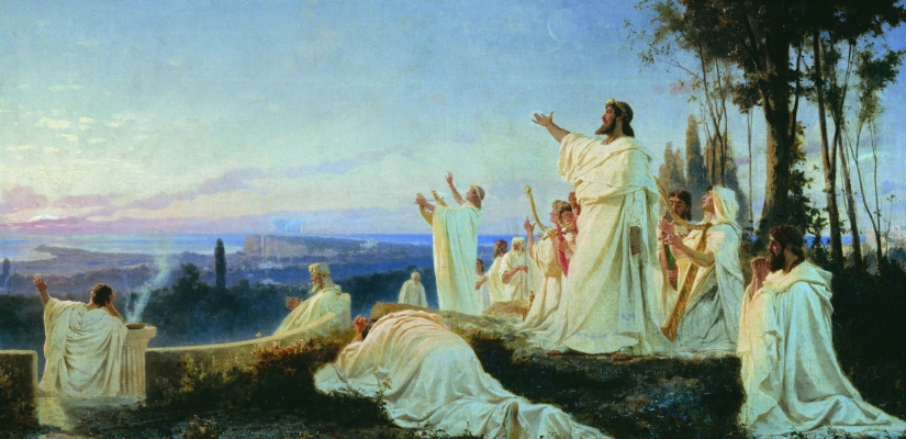 Fedor Andreevich Bronnikov. Anthem Pythagoreans rising sun. 1869