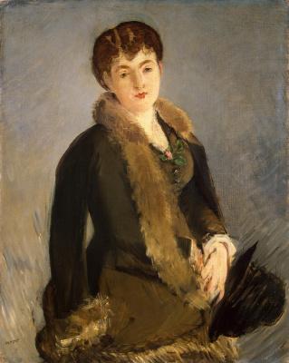 Edouard Manet. Portrait Of Isabelle Lemonnier
