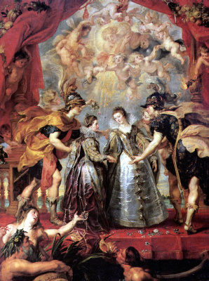 Peter Paul Rubens. The exchange of princesses