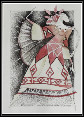Georgy Stepanov. SKETCH COSTUME. MOTHER SHAMANKA