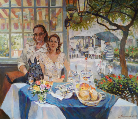 George Lapchinsky. At the table