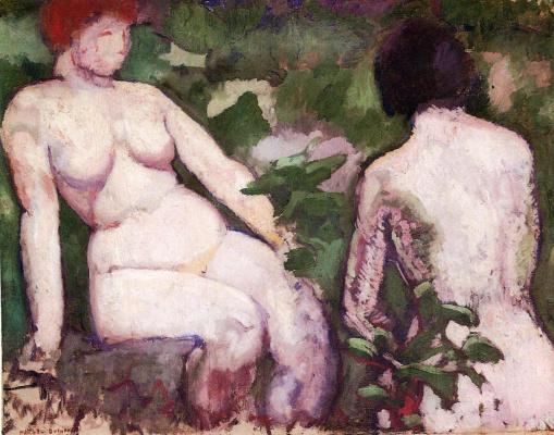 Marcel Duchamp. Two naked women