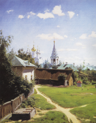 Vasily Dmitrievich Polenov. Moscow courtyard. The picture for Ivan Turgenev