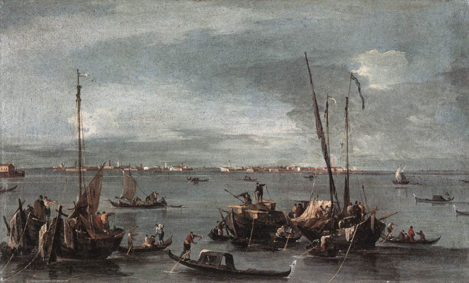 Francesco Guardi. View of the Murano Lagoon from Fondamenta Nuove