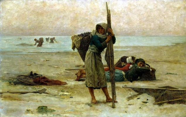 Пьер Билле. Ловля устриц