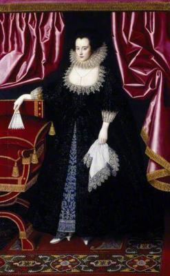 William Larkin. Portrait of Lady Anne Sequel, Lady Edward Seymour, pose Lady Edward Lewis