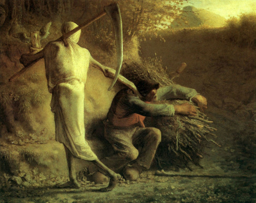Jean-François Millet. Death and woodcutter