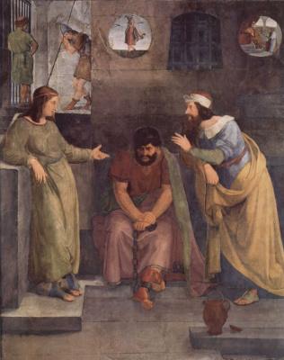 Фридрих Вильгельм фон Шадов. Иосиф толкует сны в темнице