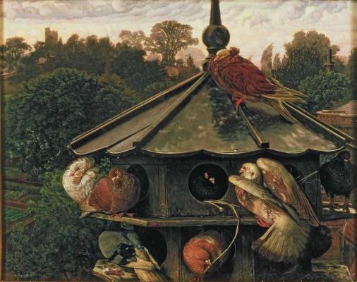 William Holman Hunt. Dovecote. The Festival Of St. Swithin, Dovecot