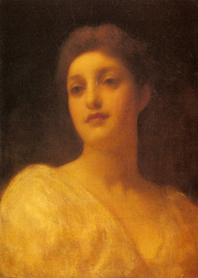 Frederic Leighton. The head of a girl