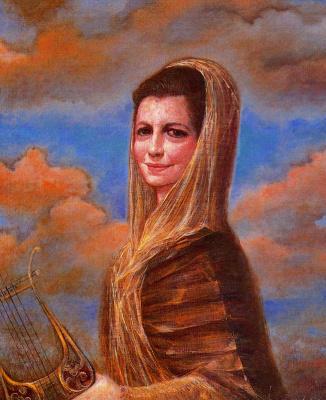 Гинес Лиебана. Женщина с музыкальным инструментом