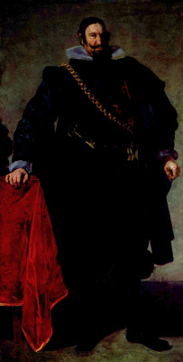 Diego Velazquez. Portrait of count-Duke de Olivares