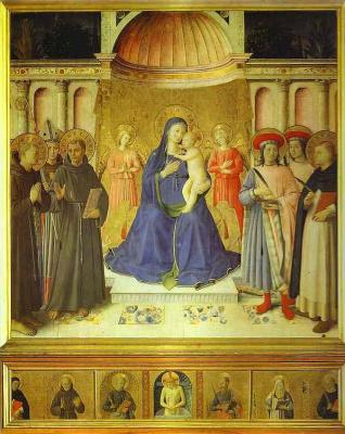 Albrecht Altdorfer. Virgin on the throne