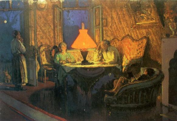 Ivan Grigorievich Myasoedov. Tea in Pavlenki