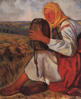 Peasant woman with kvasnica