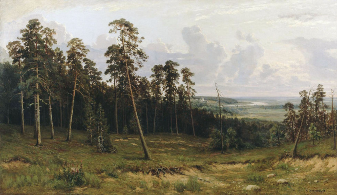 Ivan Ivanovich Shishkin. Rich log (Fir forest on the Kama river)