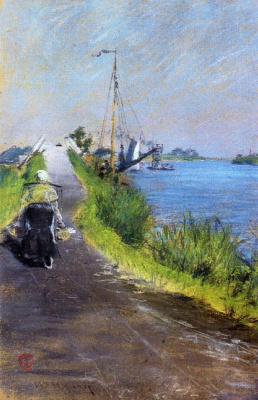 William Merritt Chase. Dutch canal