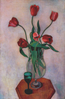 Чарлз Шилер. Красные тюльпаны