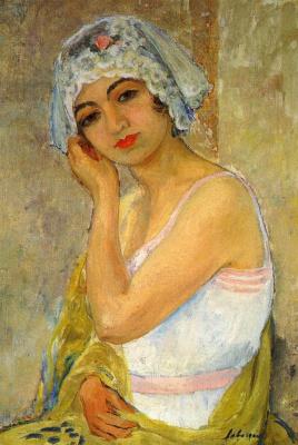 Анри Лебаск. Сидящая молодая женщина