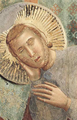 Giotto di Bondone. The dream of a palace. Legend of St. Francis. Fragment