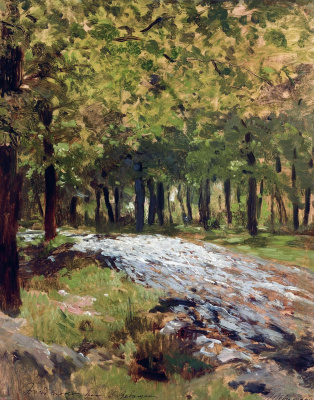 Isaac Levitan. Road in the forest