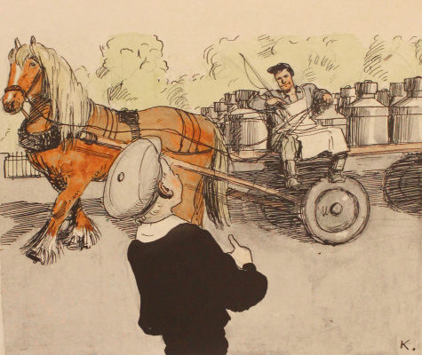 Aminadav Moiseevich Kanevsky. Taking milk