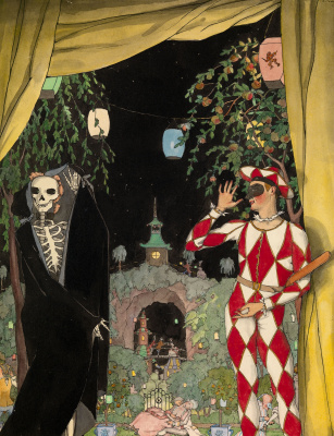 Constantin Somov. Harlequin and death