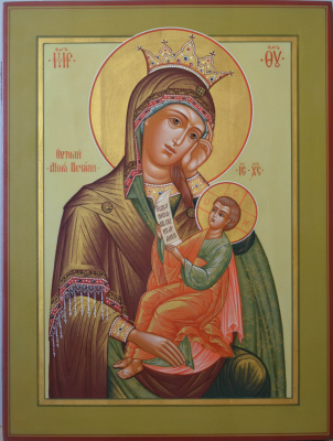 "Vladimir Alekseevich Konnov. Icon ""Image of the Blessed Virgin Mary Satisfy my sorrow"