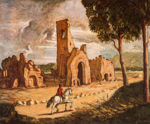 Giorgio de Chirico. Appian way