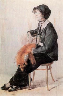 Николай Алексеевич Касаткин. Женский портрет