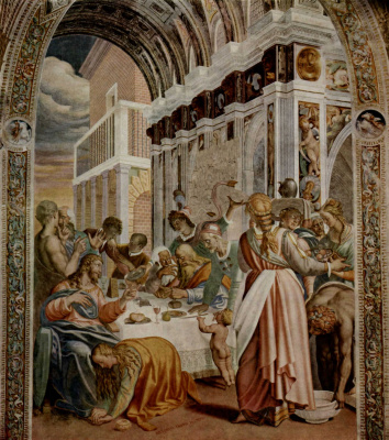Антонио Кампи. Ужин в доме фарисея