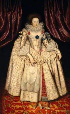 William Larkin. Portrait of Mary Curzon, Countess of Dorset