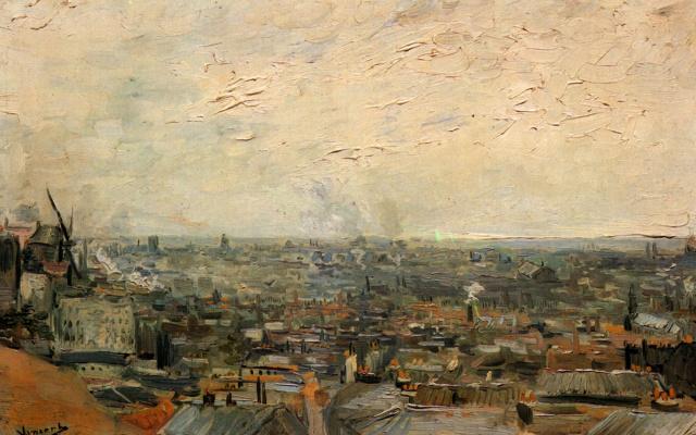 Vincent van Gogh. Paris view from Monmatra