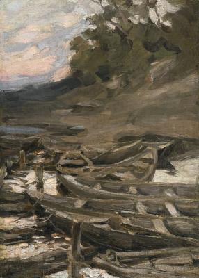 Abram Arkhipov. Boats