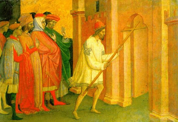 Michele Di Matteo Lambertini. The Emperor Heraclius carries the cross to Jerusalem