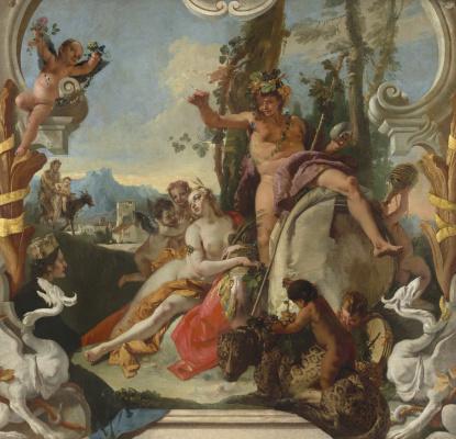 Giovanni Battista Tiepolo. Bacchus and Ariadne